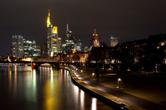 Frankfurt by night Stock Photos