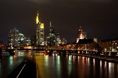 Frankfurt by night Royalty Free Stock Photos