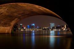 Frankfurt by night, Germany stock photography