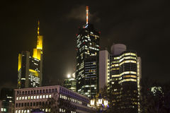 Frankfurt at Night Royalty Free Stock Image