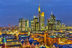 Frankfurt at night. Frankfurt am Main at night, Germany Royalty Free Stock Photos
