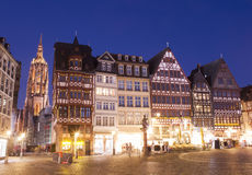 Frankfurt at night Royalty Free Stock Photos