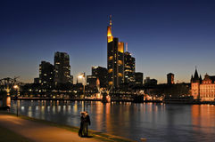 Frankfurt At Night Stock Photos