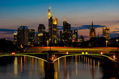 Frankfurt at night Royalty Free Stock Photos