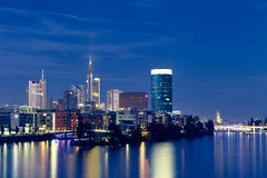 Frankfurt Nights Royalty Free Stock Images