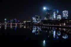 frankfurt noc Zdjęcia Stock