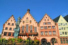Frankfurt old city Altstadt and Roemerberg Royalty Free Stock Images