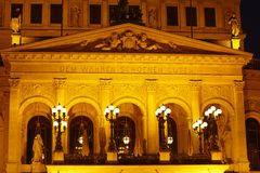 Frankfurt - Old opera house (gallery) Stock Photography