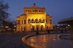 Frankfurt - Old opera house Stock Images
