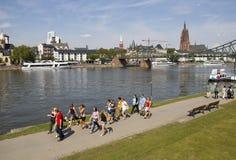 Frankfurt på strömförsörjningen royaltyfri fotografi