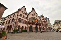 Frankfurt på strömförsörjningen, Tyskland - RÃ--MERstadshuset Arkivfoto