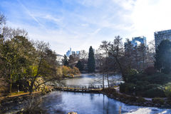 Frankfurt. Palmengarten at winter stock photography
