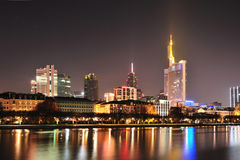 Frankfurt panorama city by night Stock Image