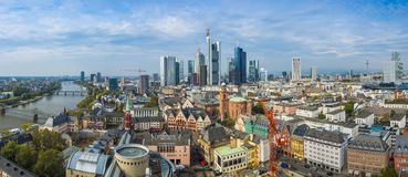 Frankfurt Panorama Royalty Free Stock Images