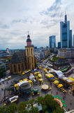 Frankfurt panoramic view with Hauptwache and skyscrapers Stock Photo