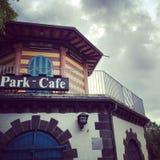 Frankfurt parka kawiarnia Zdjęcie Stock