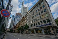 Frankfurt Pieniężny okręg obraz royalty free