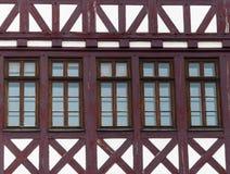 Frankfurt, Römer, half-timbered Haus Lizenzfreies Stockbild