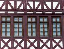 Frankfurt, Römer, helft-betimmerd huis Royalty-vrije Stock Afbeelding