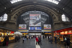 Frankfurt Railway Station, Germany Royalty Free Stock Photography