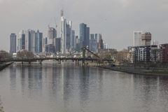 Frankfurt Reflection Stock Photos