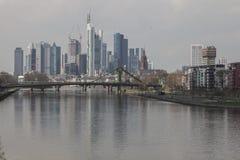 Frankfurt reflexion Arkivfoton