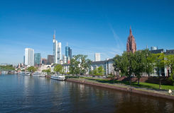 Frankfurt Riverside. View of Frankfurt from The River Main royalty free stock photo