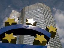 Frankfurt rzeźba euro obraz royalty free