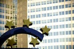 Frankfurt rzeźba euro Obrazy Royalty Free
