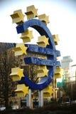 Frankfurt rzeźba euro Zdjęcia Stock