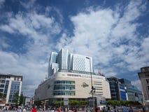 Frankfurt's central square Royalty Free Stock Photo