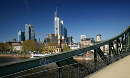 Frankfurt's Iron Footbridge Stock Photography