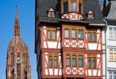 Frankfurt's Landmarks. Landmarks of Frankfurt am Main Royalty Free Stock Photography
