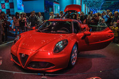 FRANKFURT - SEPT 21: ALFA ROMEO 4C presented as world premiere a Royalty Free Stock Image