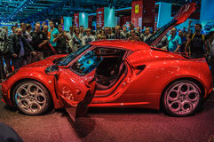 FRANKFURT - SEPT 21: ALFA ROMEO 4C presented as world premiere a Stock Image