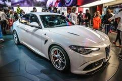 FRANKFURT - SEPT 2015: Alfa Romeo Giulia presented at IAA Stock Photo