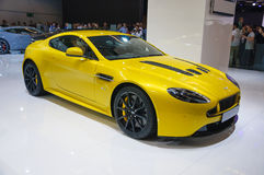 FRANKFURT - SEPT 21: ASTON MARTIN V12 VANTAGE S presented as wor Royalty Free Stock Photography