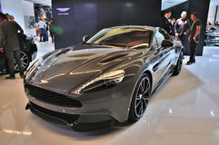 FRANKFURT - SEPT 14: Aston Martin Vanquish Coupe presented as wo Royalty Free Stock Photography