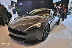 FRANKFURT - SEPT 14: Aston Martin Vanquish Coupe som framläggas som wo Royaltyfri Fotografi