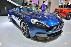 FRANKFURT - 14 SEPT.: Aston Martin Vanquish Coupe wordt voorgesteld die als wo Stock Foto's
