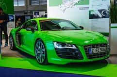 FRANKFURT - SEPT. 2015: Audi R8 e-Tron bij IAA Internati wordt voorgesteld die Stock Fotografie