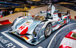 FRANKFURT - SEPT 21: Audi R18 e-tron quattro 01 presented as world premiere at royalty free stock images