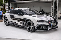 FRANKFURT - SEPT 2015: Audi RS 7 quattro concept presented at IAA Royalty Free Stock Image