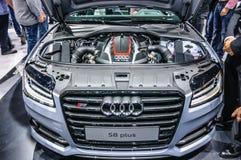FRANKFURT - SEPT 2015: Audi S8 plus presented at IAA Stock Image
