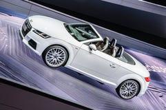 FRANKFURT - SEPT 2015: Audi TT 2.0 TDI Ultra cabrio presented Stock Images