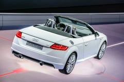 FRANKFURT - SEPT 2015: Audi TT 2.0 TDI Ultra cabrio presented Stock Photography
