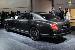 FRANKFURT - SEPT 2015: Bentley Mulsanne Startech presented at IA Royalty Free Stock Photography