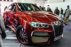 FRANKFURT - SEPT 2015: BMW X6 AG Excalibur Alligator  presented. At IAA International Motor Show on September 20, 2015 in Frankfurt, Germany Stock Photos