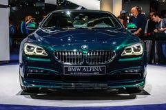 FRANKFURT - SEPT 2015: BMW Alpina B6 Biturbo Edition 50 presente Royalty Free Stock Photography