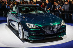 FRANKFURT - SEPT 2015: BMW Alpina B6 Biturbo Edition 50 presente Royalty Free Stock Images